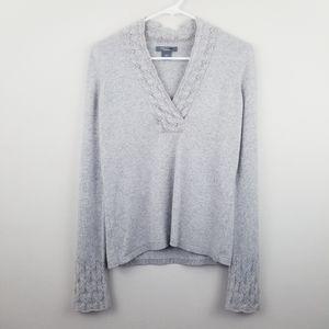 Ann Taylor | Metallic Pointelle Cashmere Sweater